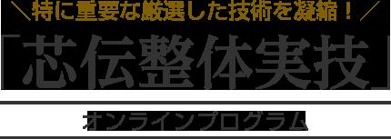 [11/22 終了] 【芯伝整体】マスタープログラム 第3期プロモーション